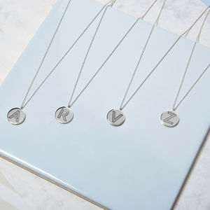 Personalised Sterling Silver Facett Initial Necklace - wedding jewellery