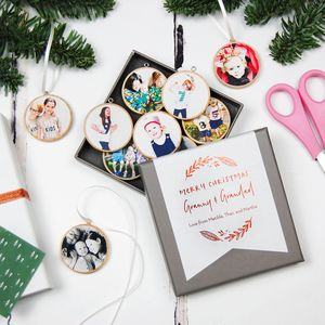 Personalised Grandparents Photo Decorations Keepsake - christmas decorations