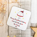 Mummy From The Bump Personalised Wooden Xmas Coaster