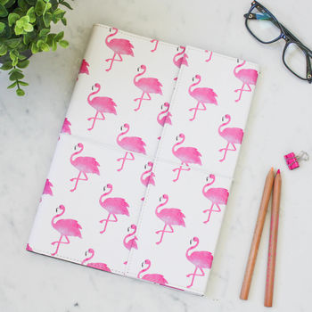 Recycled Pink Flamingo A4 Notebook