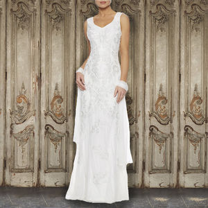 Ivory Applique White Gown - wedding dresses
