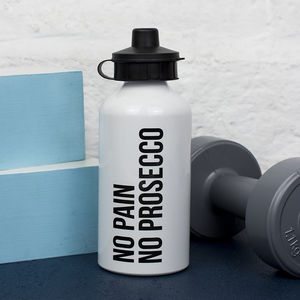 'No Pain No Prosecco' Water Bottle