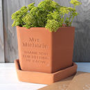 Thank you for Helping me Grow Terracotta pot from Letterfest