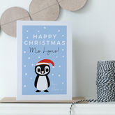 Teacher's Personalised Christmas Card - cards
