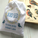 Personalised Cotton Bag Filled With Wild Bird Seed