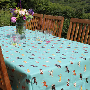 Teal Horse Tablecloth - tablecloths