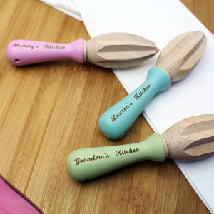 Personalised Wooden Citrus Reamer