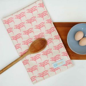 Pig Tea Towel - kitchen accessories