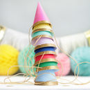 Colourful And Glittery Gold Mini Party Hats