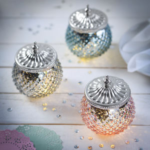 Diamond LED Sparkle Jar - children's lighting