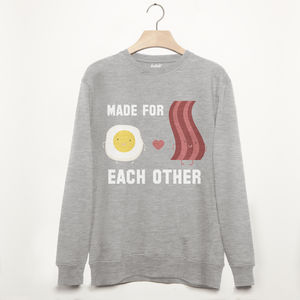 Made For Each Other Unisex Valentine's Sweatshirt
