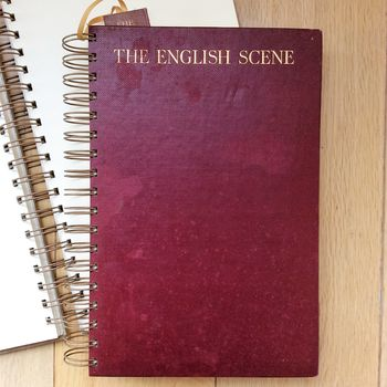 'The English Scene' Upcycled Notebook