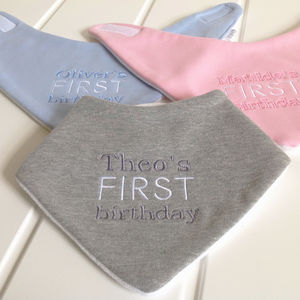 First Birthday Bandana Bib