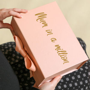 Personalised Luxury Rose Gold Mother's Day Gift Box - gift wrap