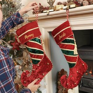 Personalised Velvet Jingle Bell Christmas Stocking - stockings & sacks
