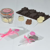 Personalised Lollipop Making Kit: Chocolate Hearts - chocolates & confectionery