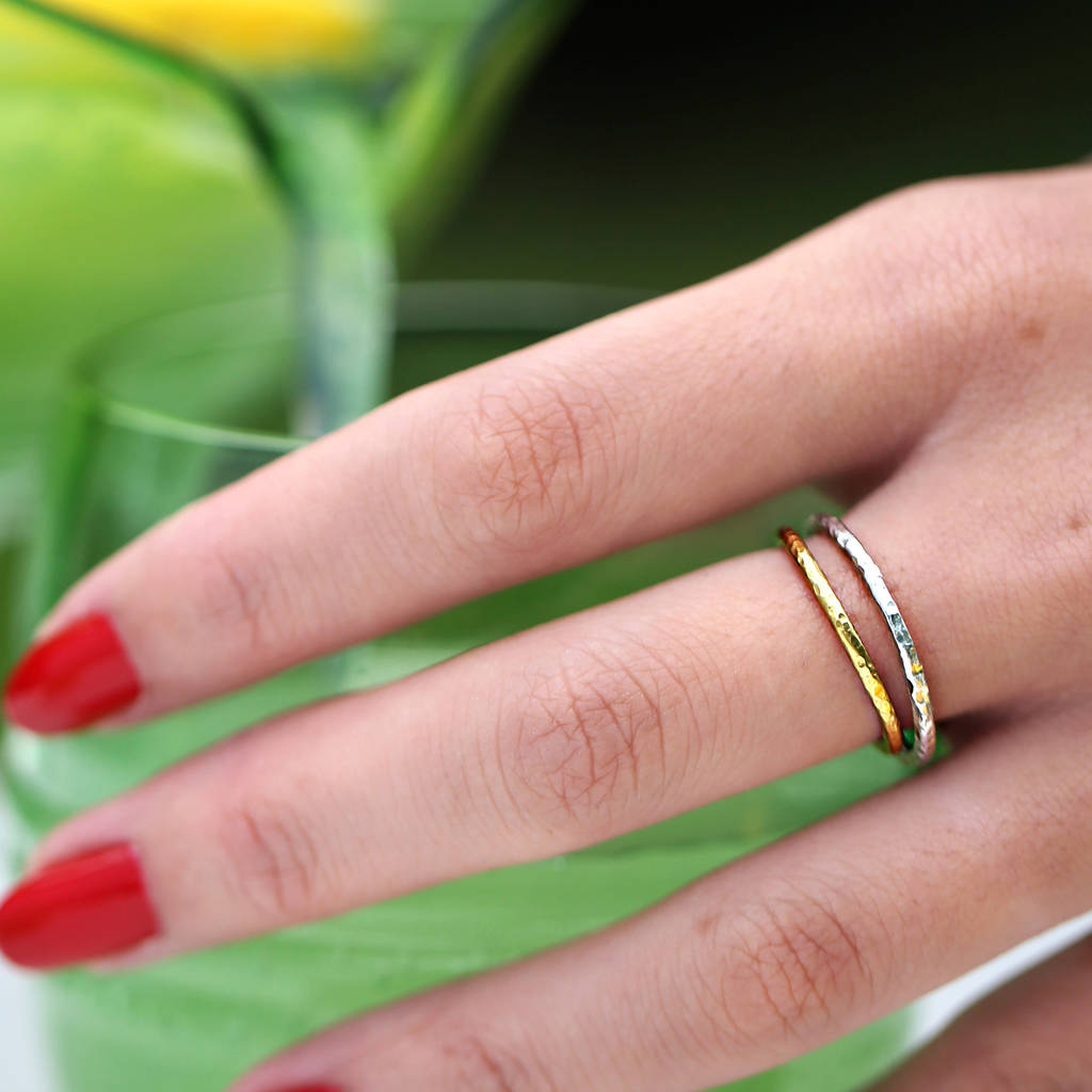 gold hammered wedding ring in fairtrade gold by frillybylily ...