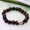 Personalised Men's Scroll Bracelet With Palm Wood