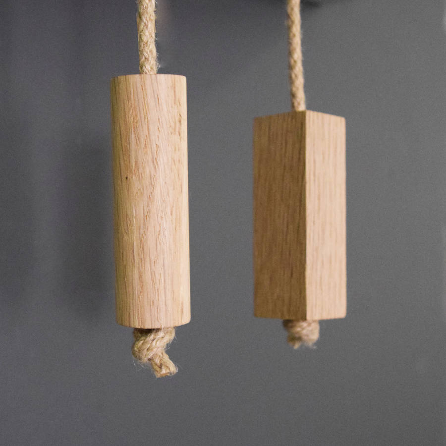 homepage pushka home wooden oak and rope bathroom light pull