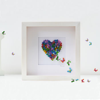 Anniversary Butterfly Heart, Mother's Day Gift