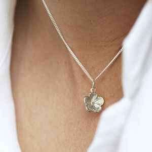 Forget Me Not Sterling Silver Flower Necklace