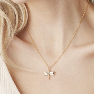 Dragonfly Necklace For Life In Silver, Gold Or Rose - lucky charm jewellery