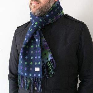 Merino Lambswool Spot Check Scarves - scarves