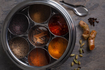 Curry Lover Giftwrapped Spice Tin With Indian Spices