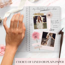 Personalised Wedding Notebook 'Calligraphy love'