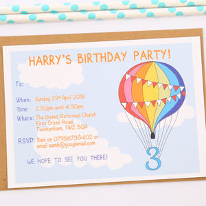 kids and children s party invitations
