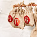 24 X Christmas Advent Calendar Tree Hanging Sacks