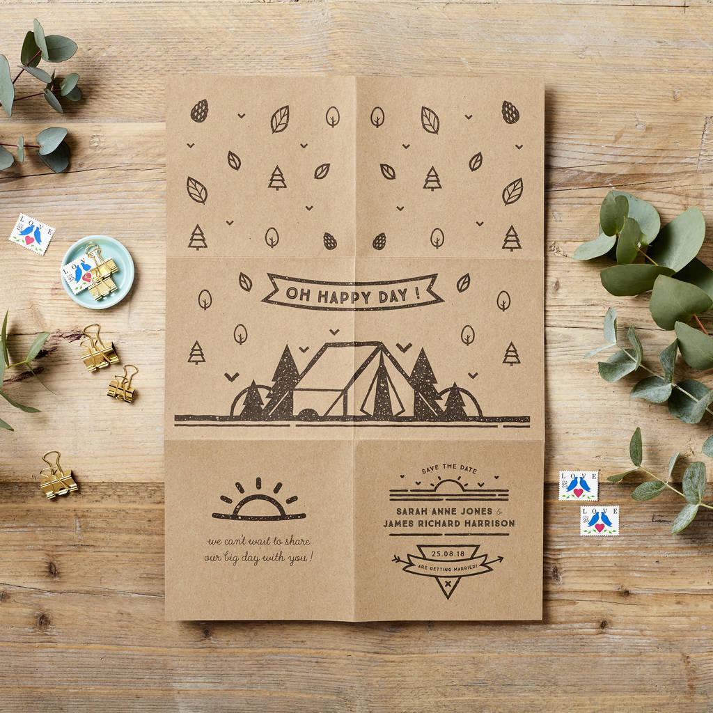 Woodland Foldout Wedding Invitation Poster By Doodlelove