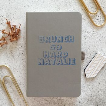 Personalised 'Brunch' Notebook