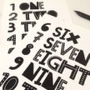 One To Ten Numbers Set Of Two Art Prints