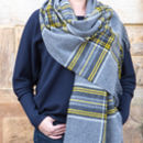 Merino Wool Check Stoles