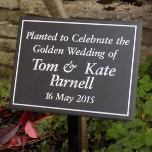 Personalised Tree Planting Plaque