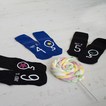 Children's Personalised Birthday Socks