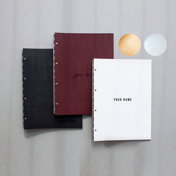 Leather Personalised Post Portfolio Folder Album A4/A3
