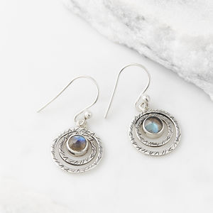 Infinity Protection Labradorite Earrings