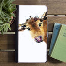 Inky Cow Flip Phone Case With Card Slots