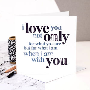Wedding Anniversary Card; I Love You - cards sent direct