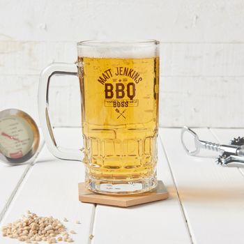 Personalised Bbq Beer Glass Tankard