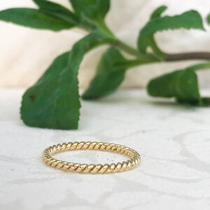 Braided Ethical Fairtrade Gold Wedding Ring