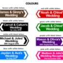 double sided direction wedding signs