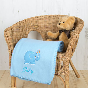 Personalised Fleece Pram Blanket - 1st birthday gifts