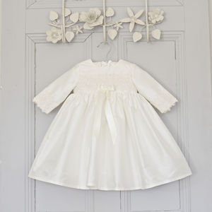 Lara Long Sleeved Christening Dress - christening wear