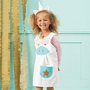 Girls Unicorn Dress - unicorns