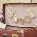Peg And String Kraft Cards Hanging Bunting Kit