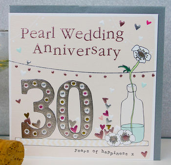 30th Wedding Anniversary Card