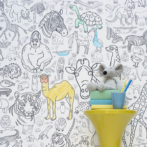 Personalised Colour In Wallpaper Amazing Animals - furnishings & fittings